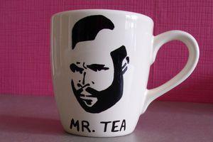 Tasse Mr.Tea (Mister T) - Peinture sur porcelaine