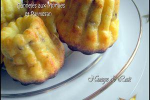 Cannelés aux Morilles & Parmesan