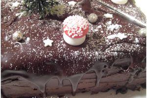 Bûche de Noël Chocolat, Café, Whisky
