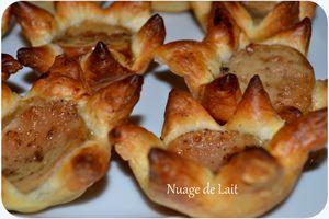 Tartelettes au Boudin Blanc pour l'apéritif