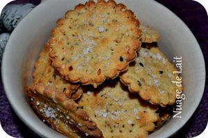 Crackers à la Farine de Quinoa, Moutarde et Petites Graines