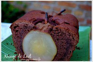 Cake aux Poires entières et Cacao