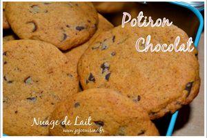 Cookies moelleux Potiron aux pépites de Chocolat (sans oeuf)
