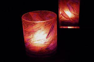 photophore fleurs violet