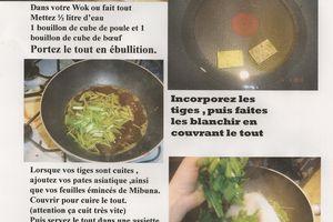 recette du chou Asiatique:Mibuna