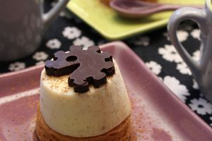 Glace rhum vanille et son palet breton