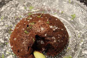 Coulant au chocolat et citron vert