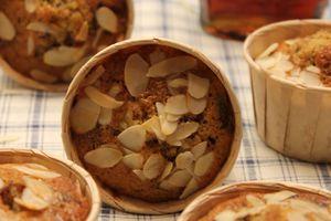 Muffin chocolat amande et sirop d'érable
