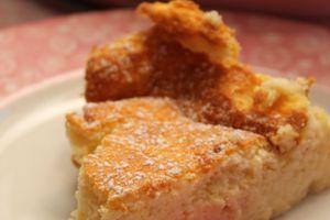 Gâteau au fromage blanc vanille citron