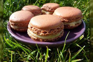 Macarons Chocolat Blanc & Crème de Sésame
