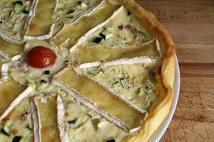 Tarte Courgettes & Camembert
