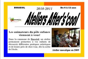 Programme ateliers after's'cool 2010-2011