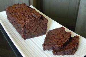Cake au chocolat et au tofu soyeux (sans oeuf, sans beurre et peu sucré mais bien gourmand)