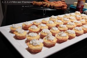 Minis cheesecake au fromage ail & fines herbes