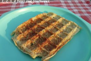 Gaufres Jambon / Courgettes