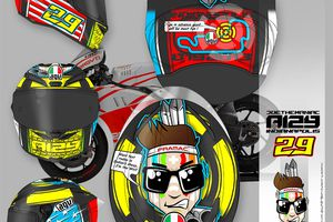 Helmet for Iannone Contest INDIANAPOLIS RACE