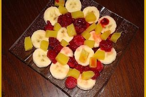 Salade de fruits à la gelée d'orange