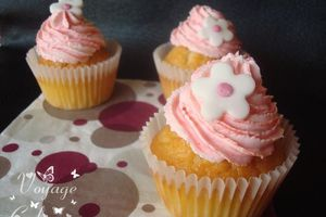 Cupcakes girly au citron