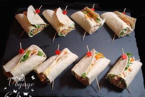 Wraps au cottage cheese et blanc de dinde
