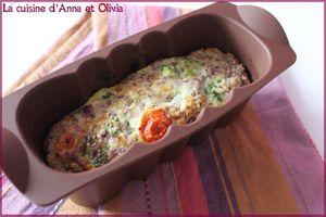 Clafoutis aux brocolis et tomates cerises