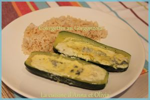 Courgettes farcies au gorgonzola (Micro Vap Tupperware)