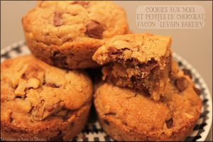 """Levain Bakery"" chocolate chip walnut cookies ~ cookies aux noix et pépites de chocolat (avec ou sans Cook'in de Guy Demarle)"