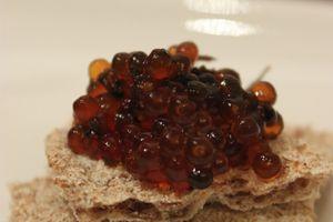 """Faux caviar aux algues {version végétale} pour le défi """"un Noël végé"""""""