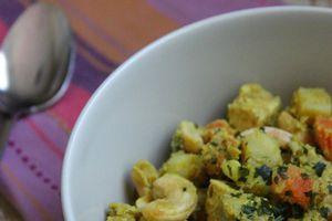 Mijoté de lentilles corail au tempeh et épices massalé