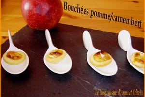 Bouchées pomme/camembert