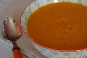 Soupe de potimarron et safran