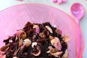 Thé bio hibiscus, rose, vanille