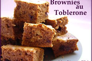 Brownies au toblerone