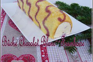 Bûche chocolat blanc / framboise