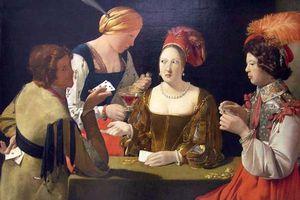 Les joueurs de cartes, en PEINTURE -