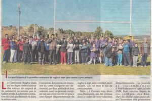 Article sur la section Rugby à 7 Sport adapté du G.R.C