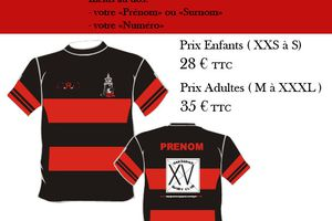 Maillots personnalisés Gardanne Rugby Club