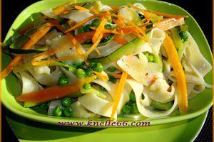 Tagliatelles aux légumes et Parmesan