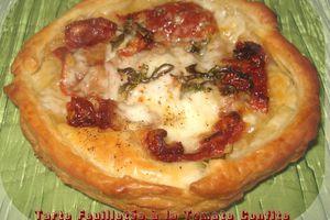 Tartelette Feuilletées à la Tomate Confite