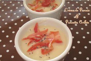 Crème de Panais et Pancetta Grillée