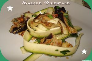 Salade Orientale Aubergines et Courgettes