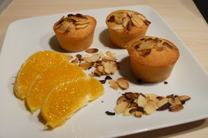 Financiers à l'Orange et Amandes