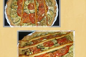 Tarte Courgettes & Tomates