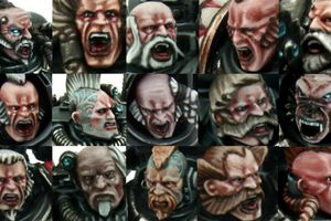 Tutorial: Space Wolves bemalen, Gesichter/ How to Paint Space Wolves, Faces 2.1