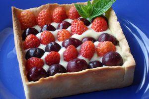 Une petite tarte de saison aux fruits rouges