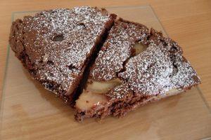 Moelleux aux poires chocolat