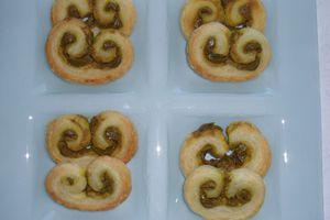 Palmitos à la pâte à pistache
