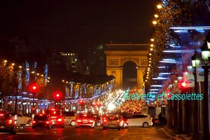 A l'Orée de Noël, illuminations de Paris
