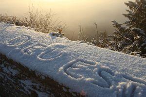 Neige à Vézelay