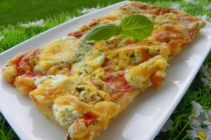 PIZZA AUX 4 FROMAGES (thermomix)