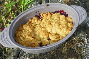 CRUMBLE AUX MURES (thermomix)